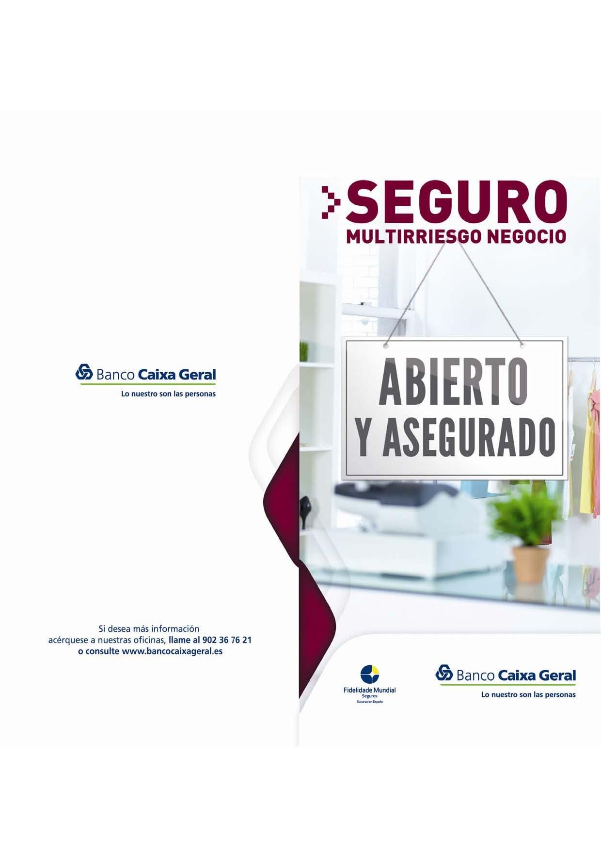 Oferta de seguros del banco caixa geral para asociados de for Seguro hogar la caixa